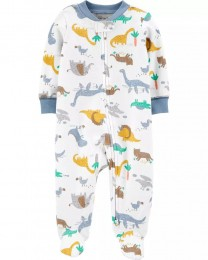 Pijama 2-Way Zip - Dino - Carter's