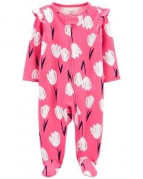 Pijama 2-Way Zip - Floral Pink - Carter's
