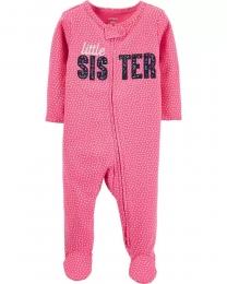 Pijama 2-Way Zip - Irmazinha - Carter's
