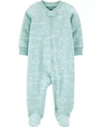 Pijama 2-Way Zip - Ovelha - Carter's