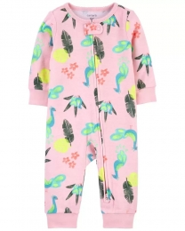 Pijama 2-Way Zip - Pavão - Carter's