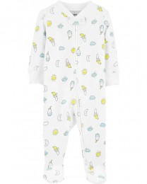 Pijama 2-Way Zip Stretch - Banana - Carter's
