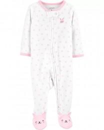 Pijama 2-Way Zip Terry - Coelho - Carter's
