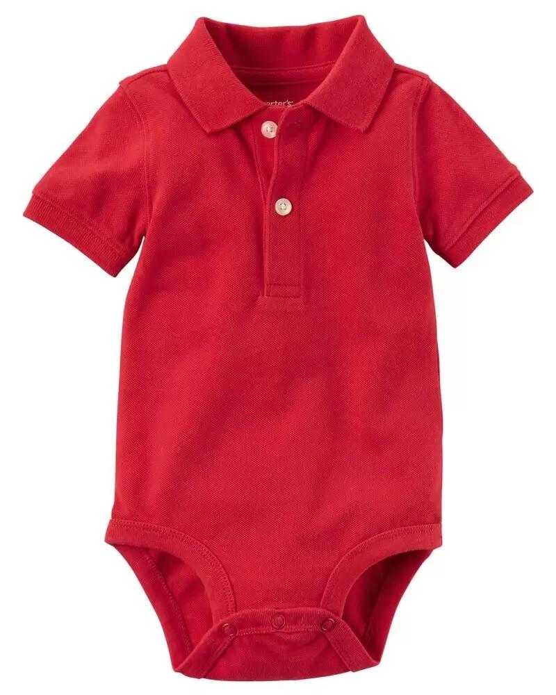 Body Polo Unitário - Vermelho - Carter's