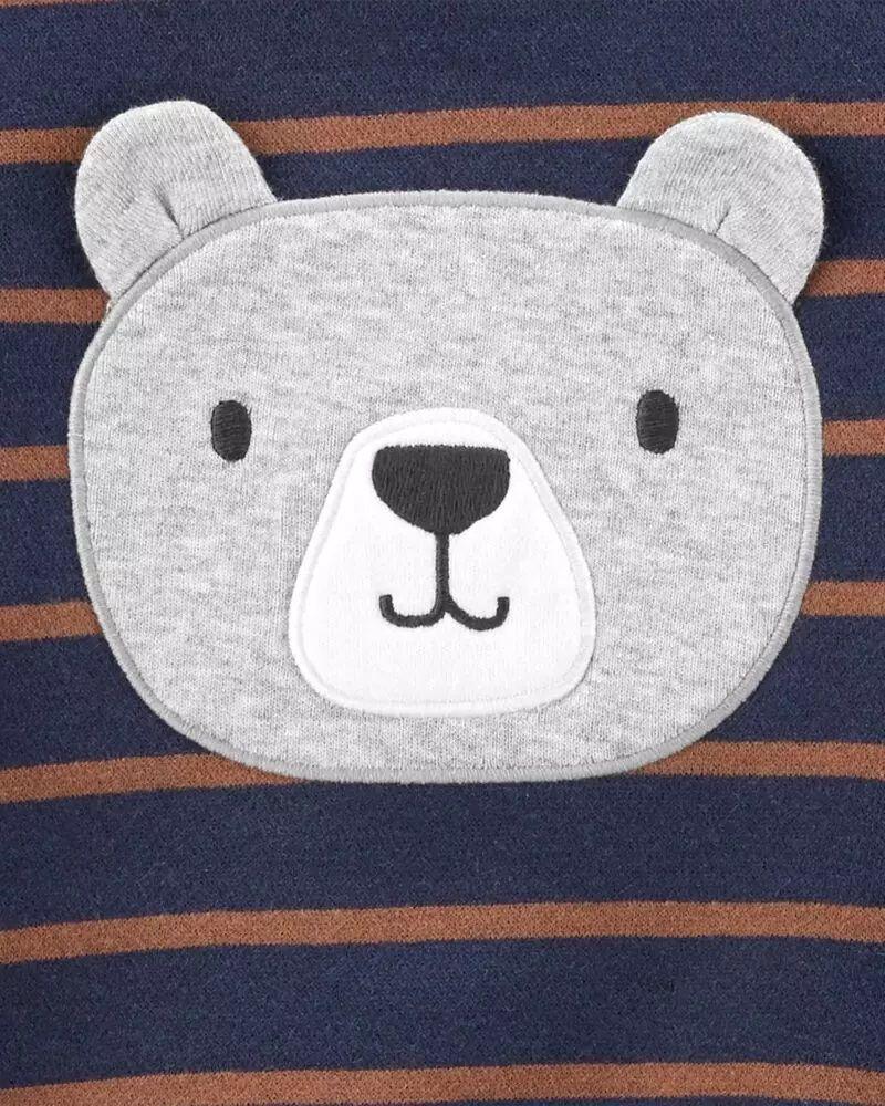 Conjunto Blusa, Body e Calça - Urso Marrom - Carter's