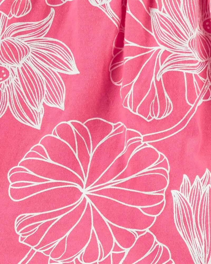 Conjunto Body, Blusinha e Shorts - Floral Pink - Carter's