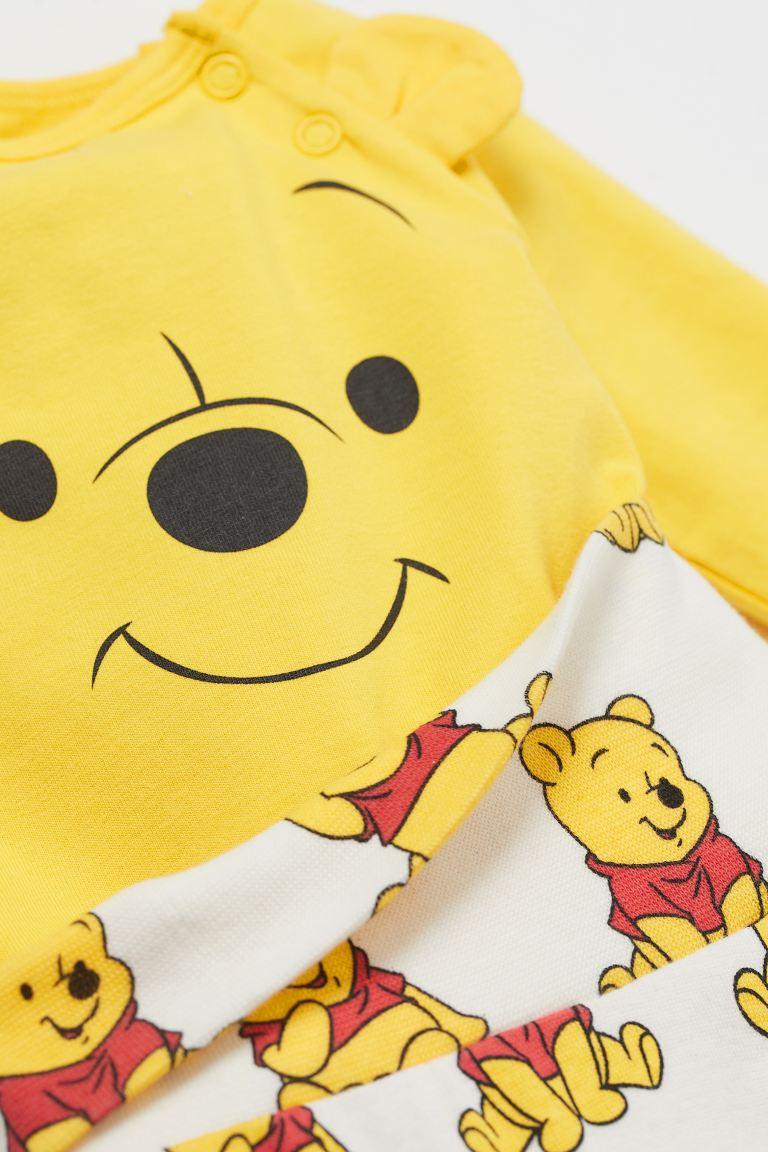 Conjunto Body, Calça e Touca - Pooh - H&M Disney