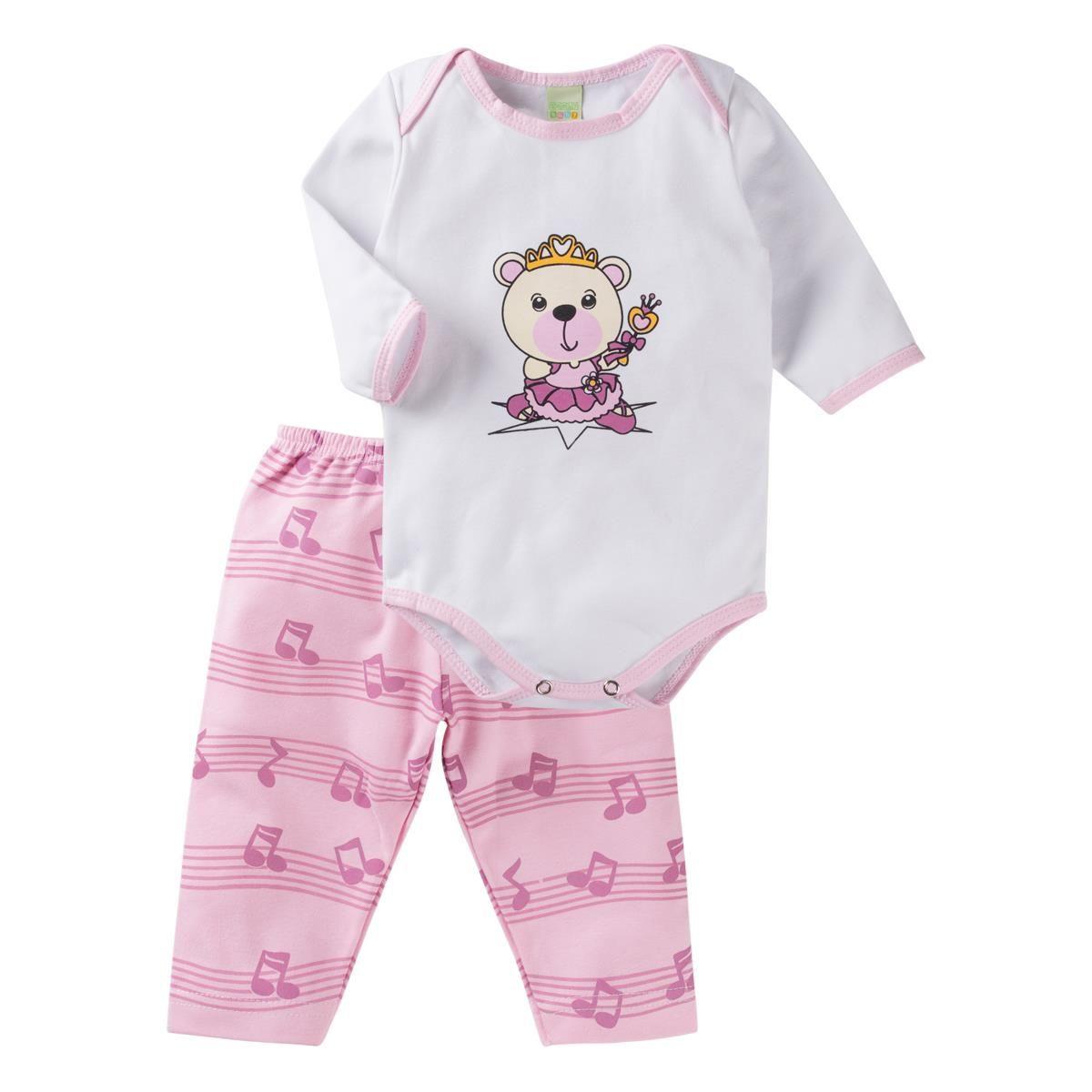 3790bfd77 Conjunto Body e Calça - ursinha princesa Smoby Baby