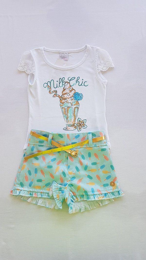 Conjunto Body e Saia - Milk chic