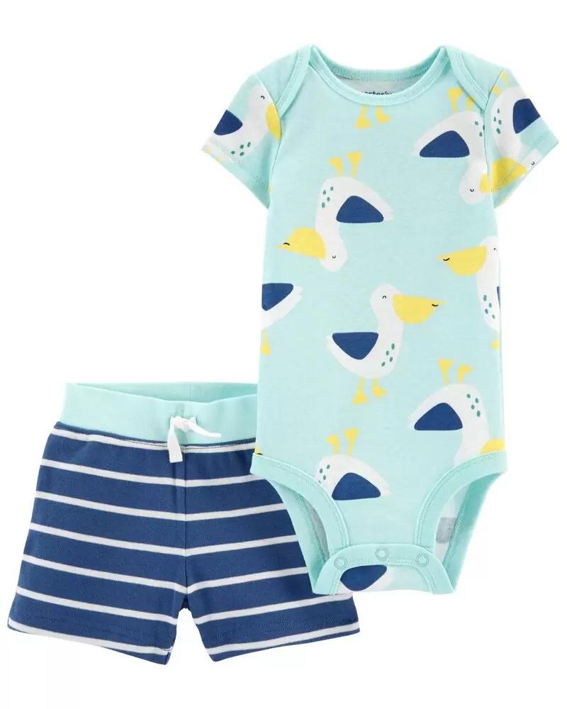 Conjunto Body e Shorts - Pelicano  - Carter's