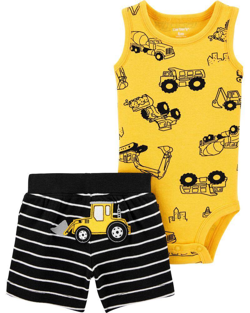 Conjunto Body Regata e Shorts - Caminhão - Carter's