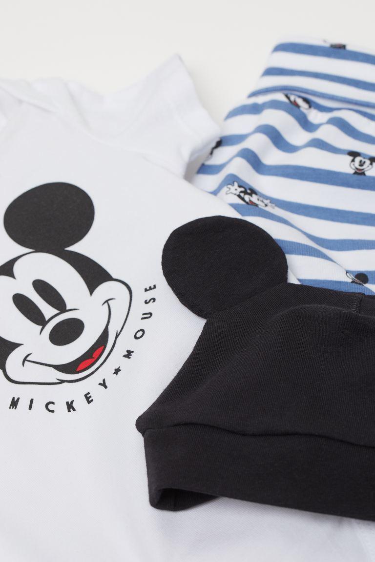 Conjunto Body, Shorts e Touca - Mickey - H&M Disney