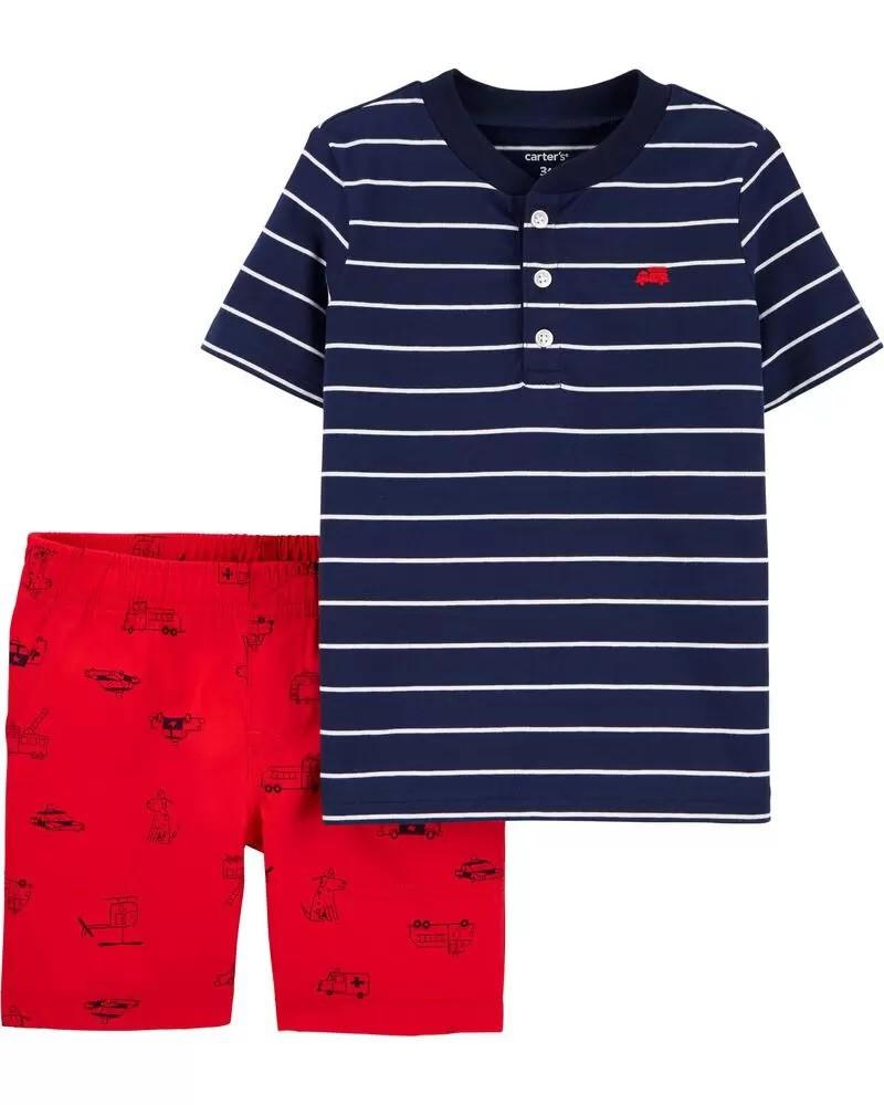 Conjunto Camiseta e Shorts - Caminhão - Carter's