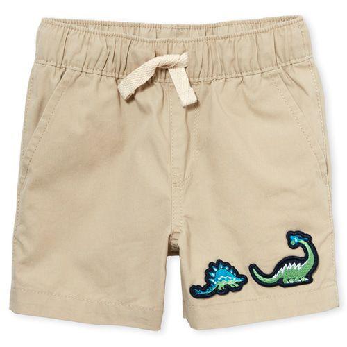 Conjunto Camisa Social e Shorts - The Children's Place - Dino