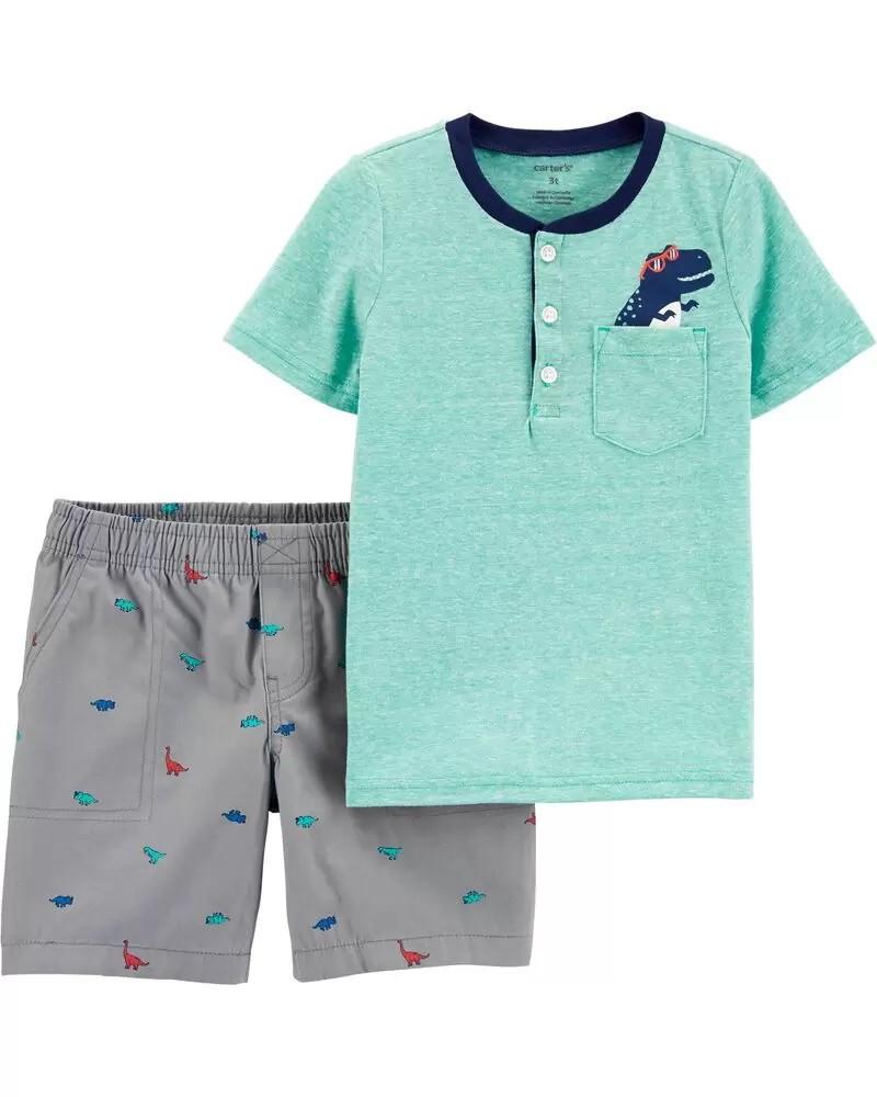 Conjunto Camiseta e Shorts - Dino - Carter's