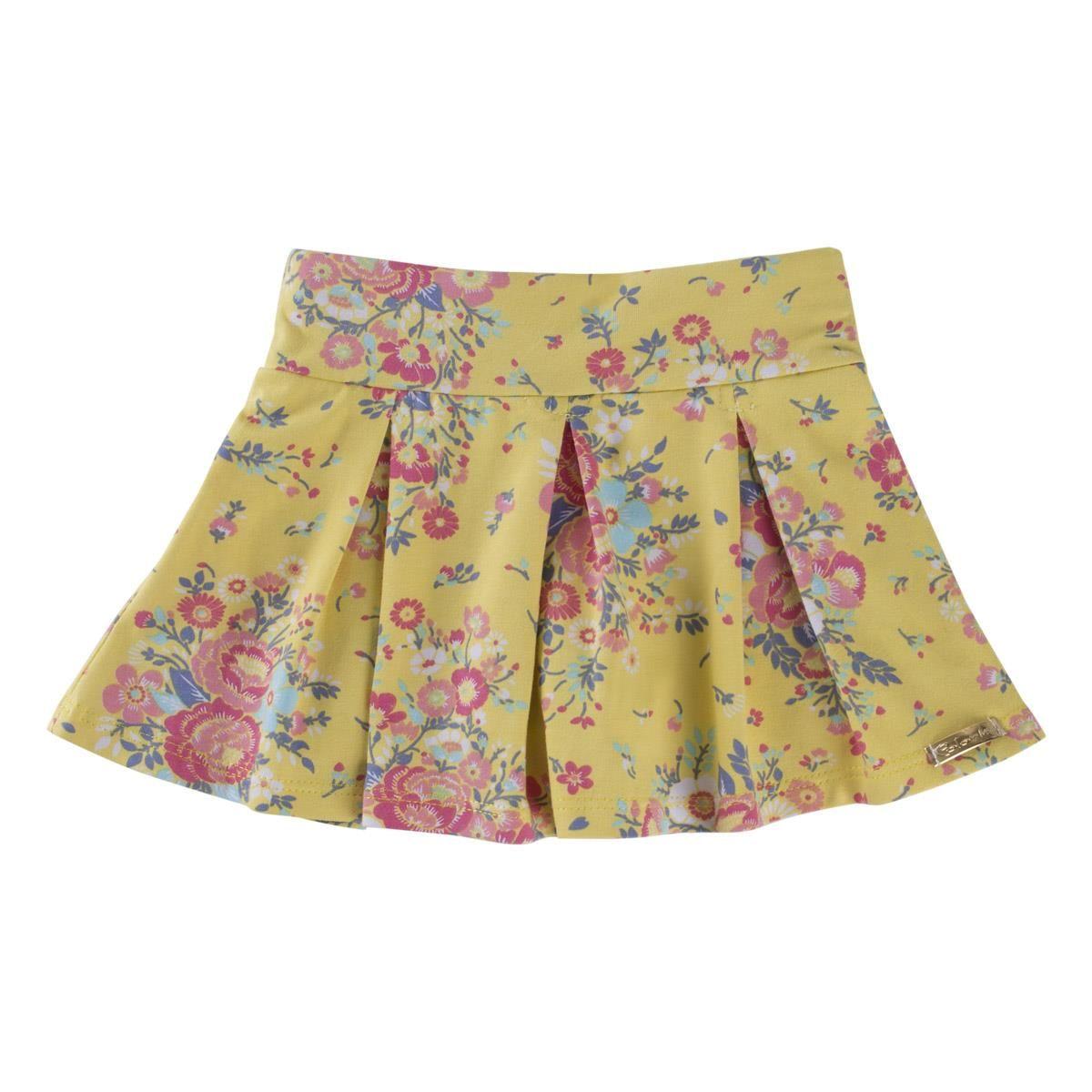 Conjunto com Blusinha regata e Saia/Shorts - Flores e pérolas