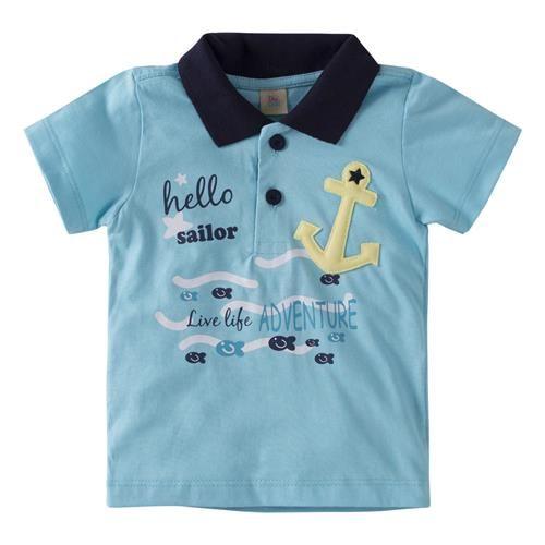 Conjunto com Camisa Polo bordada e Bermuda