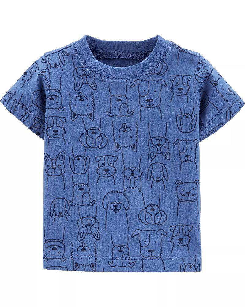 Conjunto Jardineira e Camiseta - Cachorrinhos - Carter's