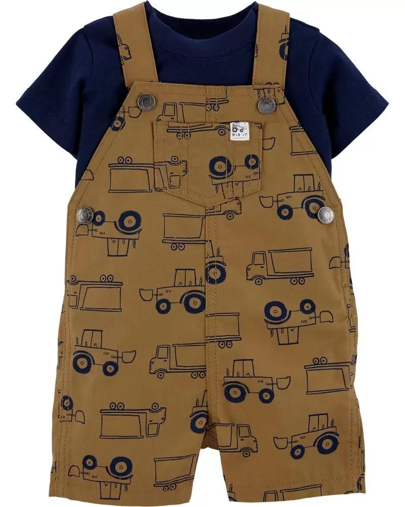 Conjunto Jardineira e Camiseta - Caminhão- Carter's