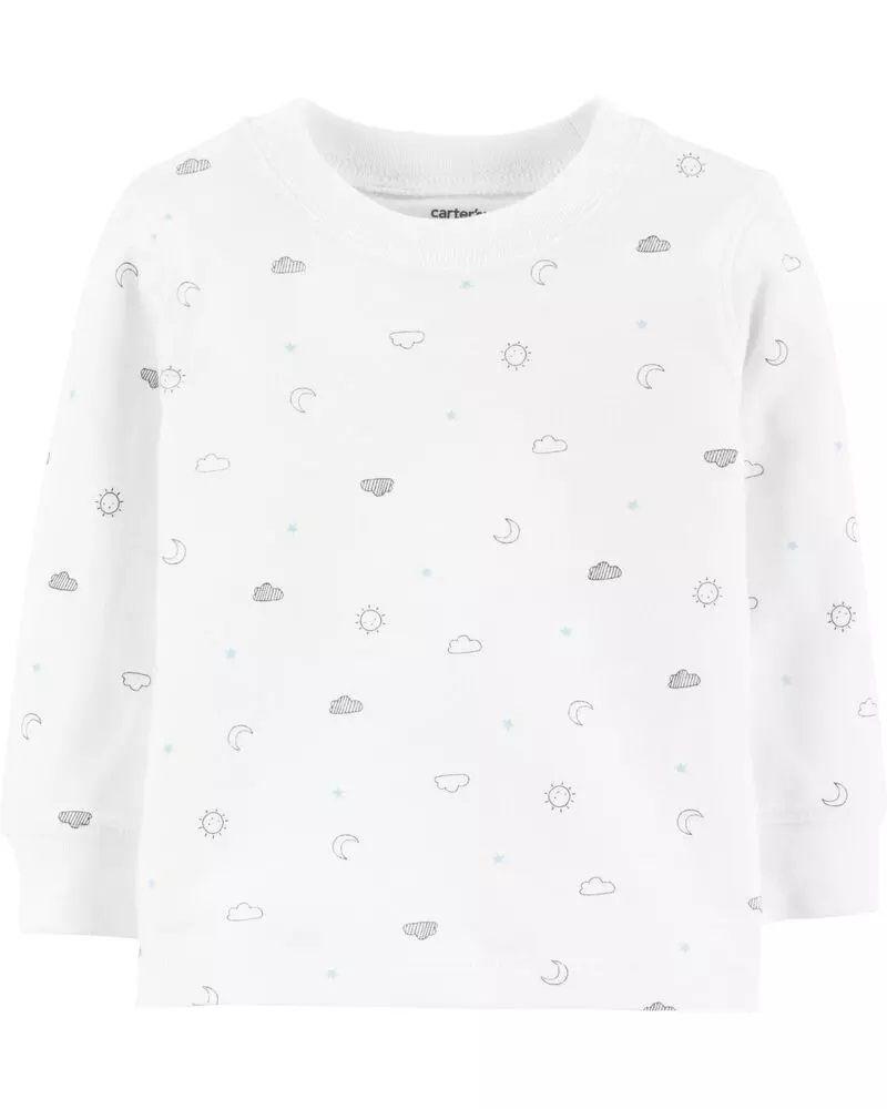 Conjunto Jardineira e Camiseta - Nuvem - Carter's