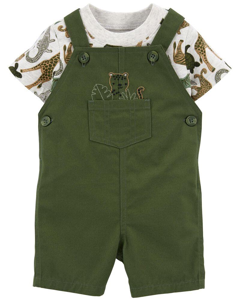 Conjunto Jardineira e Camiseta - Tigre - Carter's