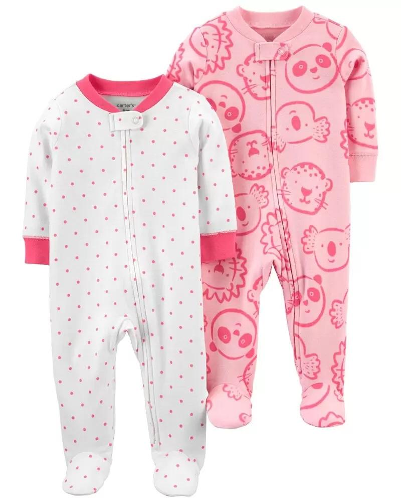 Kit 2 Pijamas - Animais e Bolinhas - Carter's