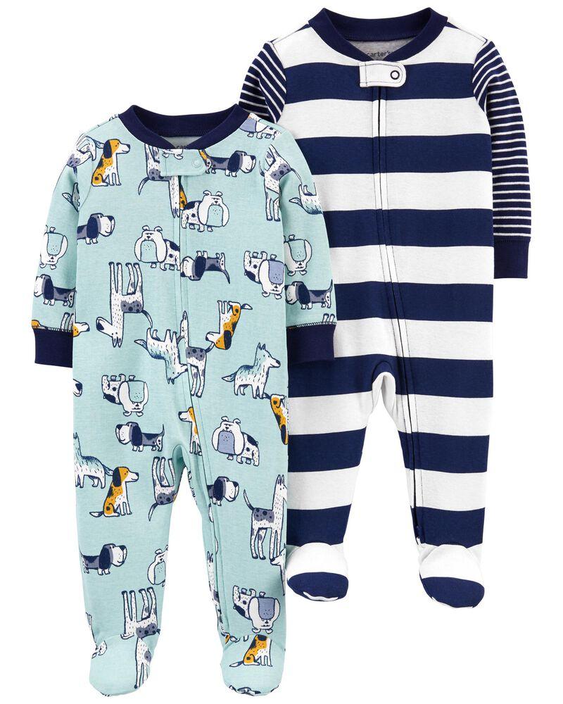 Kit 2 Pijamas - Cachorros e Listrado - Carter's