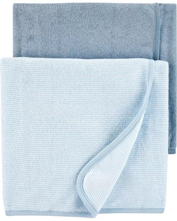 Kit 2 Toalhas - Azul - Carter's