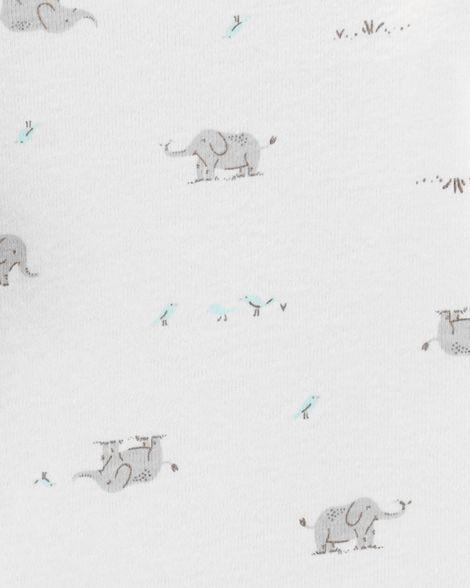 Kit com 2 Bodies e 1 Calça Carter's - Trio Elefante Peanut