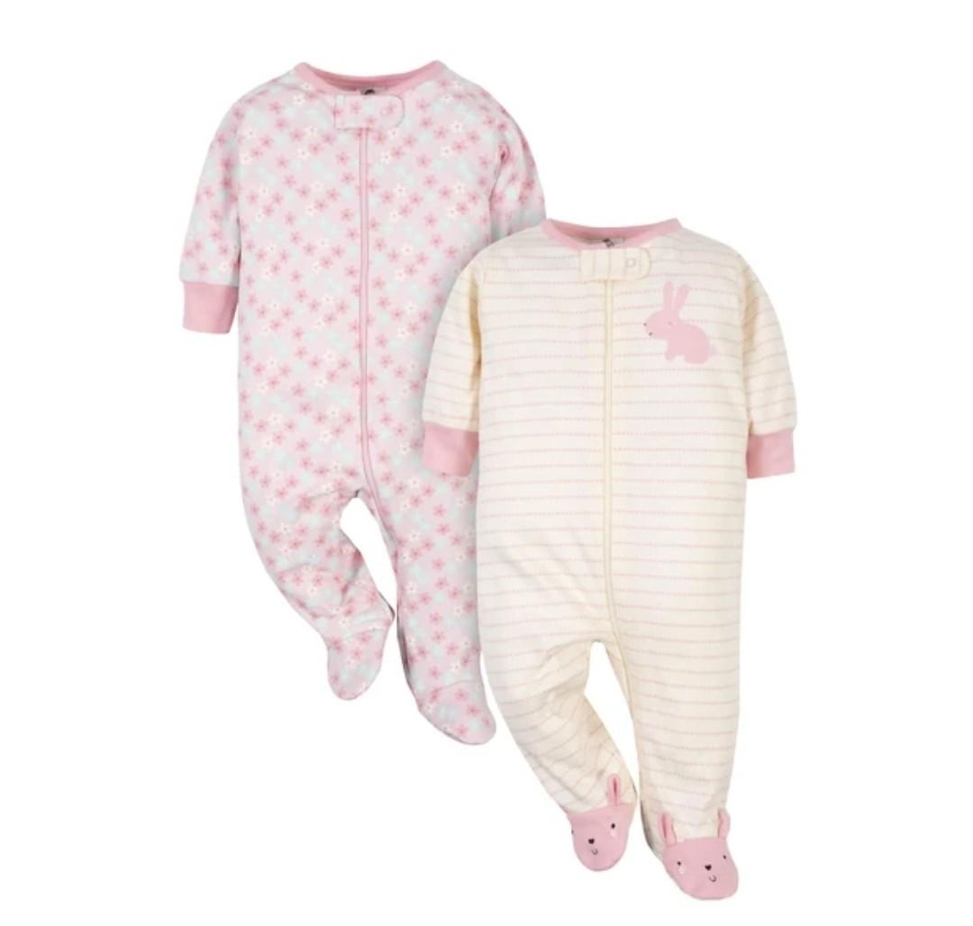 Kit com 2 Pijamas - Coelho - Gerber