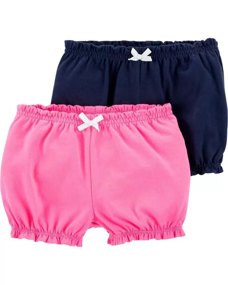 Kit com 2 Shorts - Rosa e Azul  - Carter's