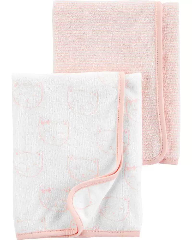Kit com 2 Toalhas - Gatinha Rosa - Carter's