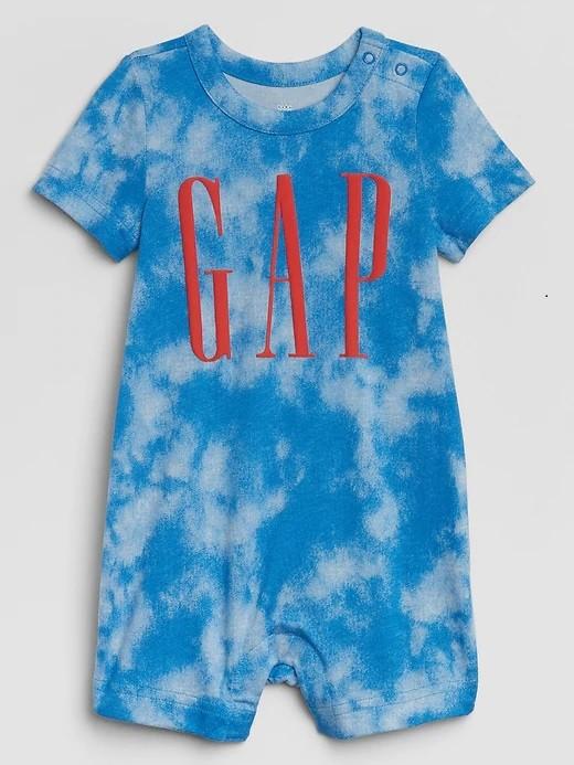Macacão Curto Romper - Tie Dye - Gap