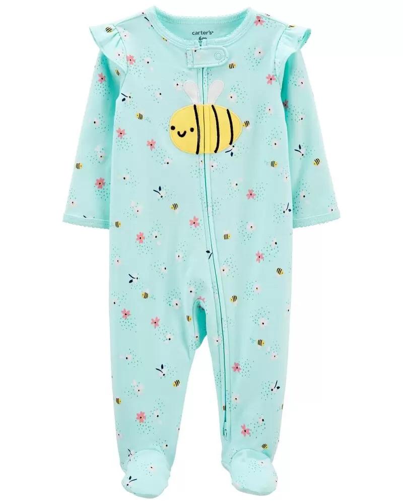 Pijama 2-Way Zip - Abelha - Carter's