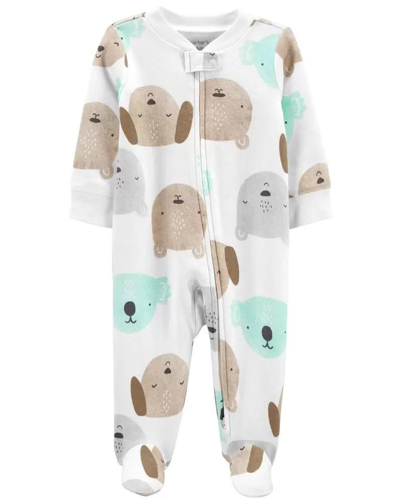 Pijama 2-Way Zip - Animais - Carter's