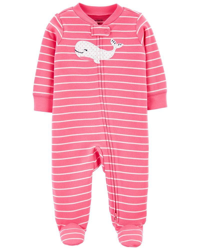 Pijama 2-Way Zip - Baleia - Carter's