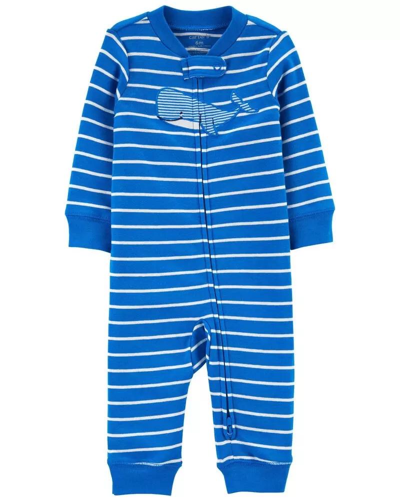 Pijama 2-Way Zip - Baleia - Carter's