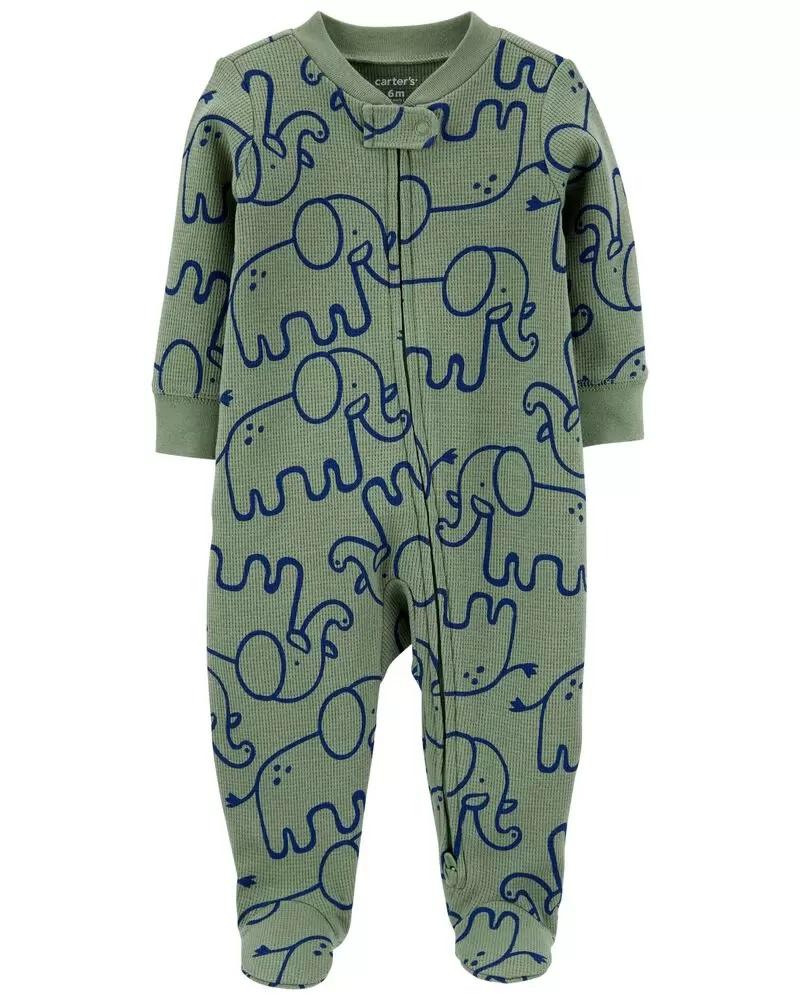 Pijama 2-Way Zip - Elefante - Carter's