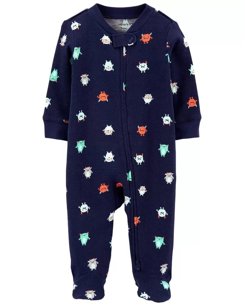 Pijama 2-Way Zip - Monstrinho - Carter's