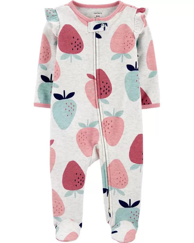 Pijama 2-Way Zip - Morango - Carter's