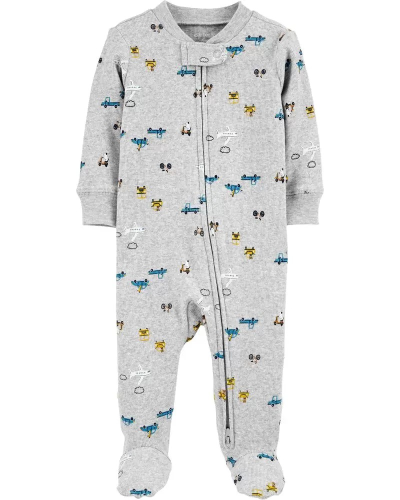 Pijama 2-Way Zip Stretch - Carros  - Carter's