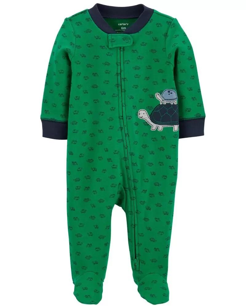 Pijama 2-Way Zip - Tartaruga - Carter's