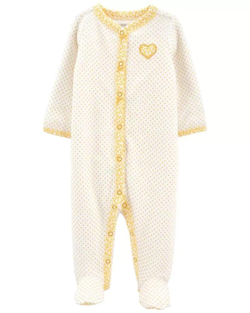 Pijama Terry - Coração Amarelo - Carter's
