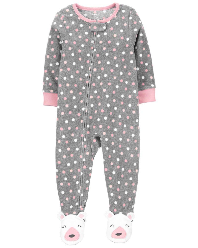 Pijama Fleece Menina - Bolinhas - Carter's
