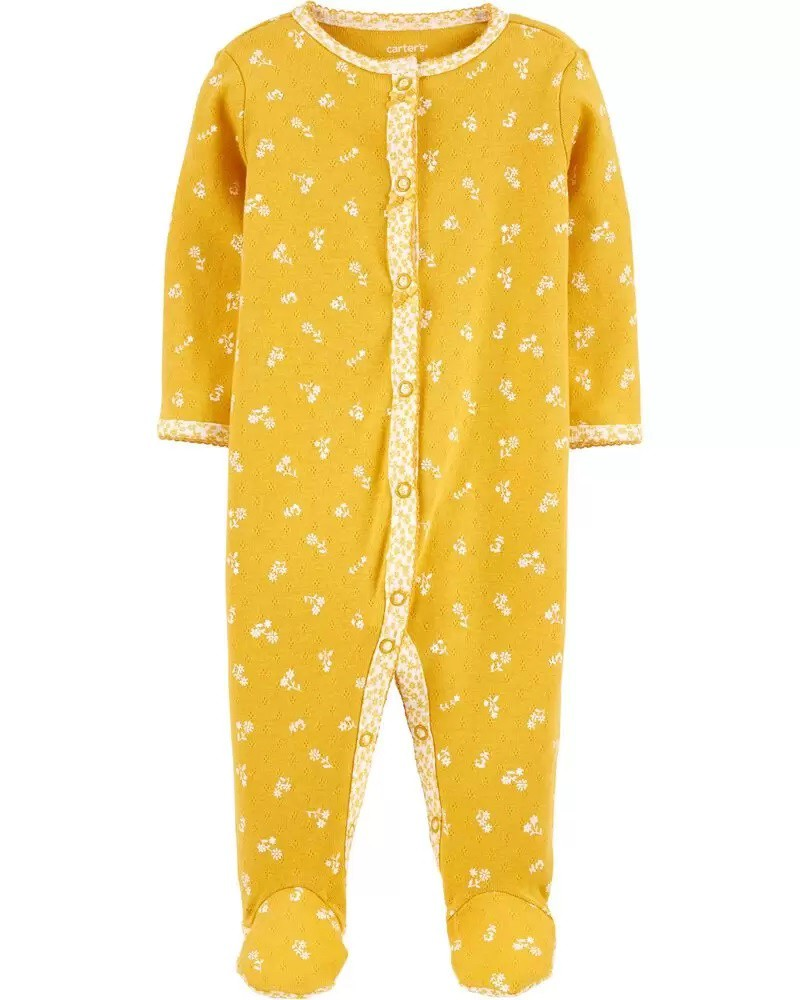 Pijama - Floral Amarelo - Carter's