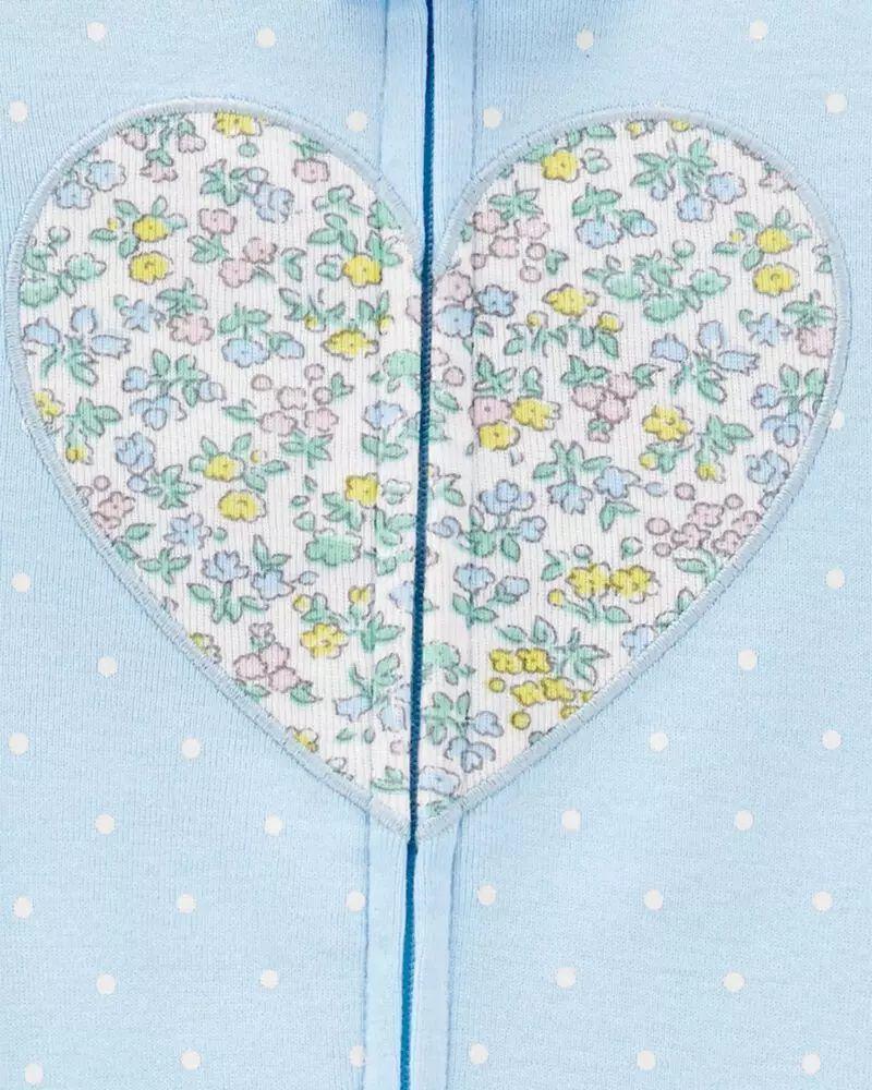 Pijama Menina - Coração Azul - Carter's