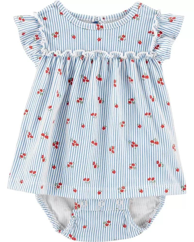 Vestido -  Azul Floral - Carter's
