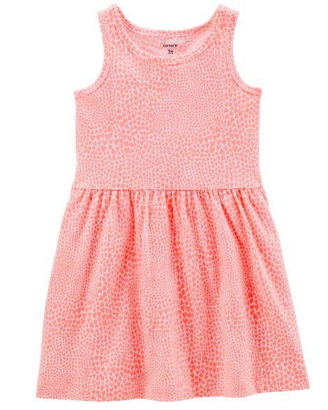 Vestido Carter's - Corações Coral