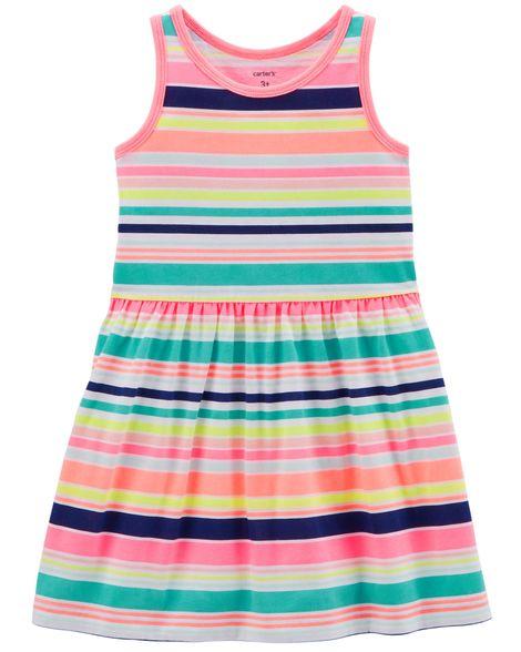 Vestido Carter's - Listras neon