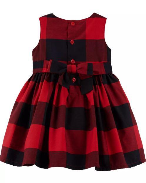 Vestido Carter's - Vermelho Quadriculado